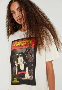 PULL&BEAR - BETTY BOOP BOOPFICTION - T-shirt med print - white - 3