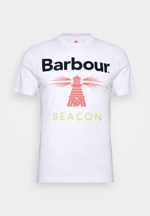 MANOR TEE - Print T-shirt - white
