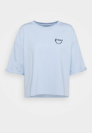 SHORT SLEEVE ROUND NECK - Print T-shirt - light blue