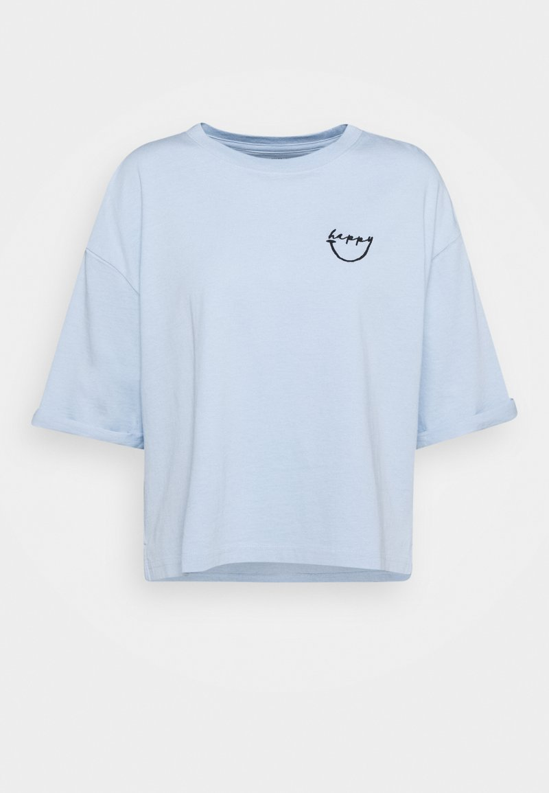 Marc O'Polo - SHORT SLEEVE ROUND NECK - Print T-shirt - light blue