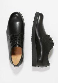 NOIRE LINE - MARC - Volnočasové šněrovací boty - black - 1
