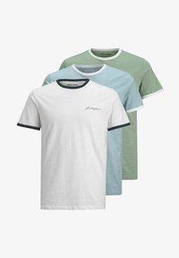 Jack & Jones - 3 PACK - Print T-shirt - white - 6