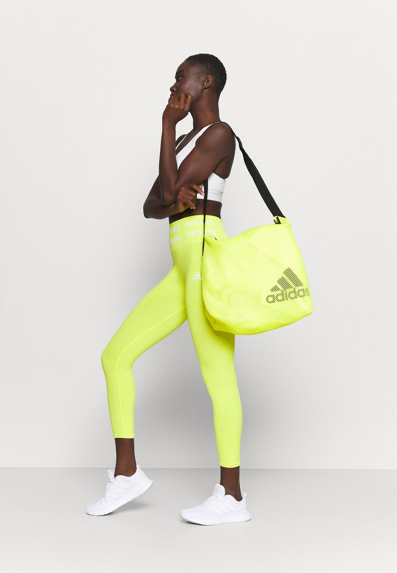 adidas Performance - EASY SHOP - Sportovní taška - acid yellow/black