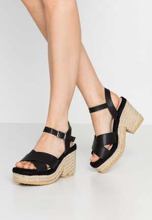 CAMBA - Sandály na vysokém podpatku - black
