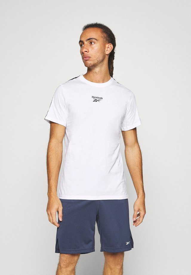 TAPE TEE - Camiseta estampada - white