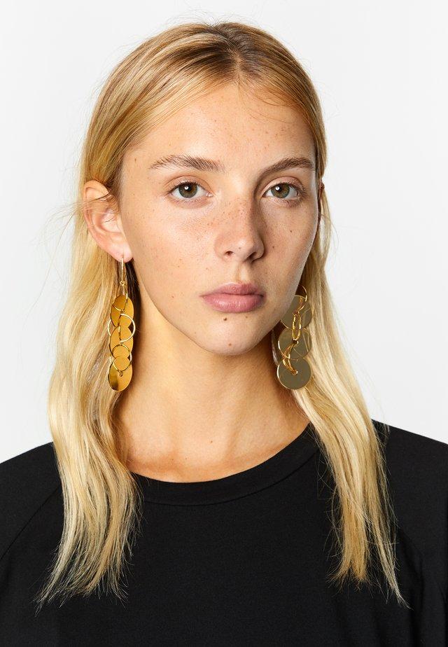 LONG PLAQUE  - Earrings - gold