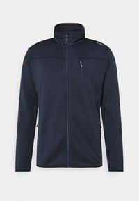 MAN JACKET - Fleece jacket - black/blue