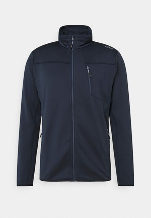 MAN JACKET - Fleece jacket - black/blue