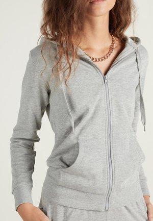 MIT KAPUZE - Zip-up hoodie - grigio melange chiar