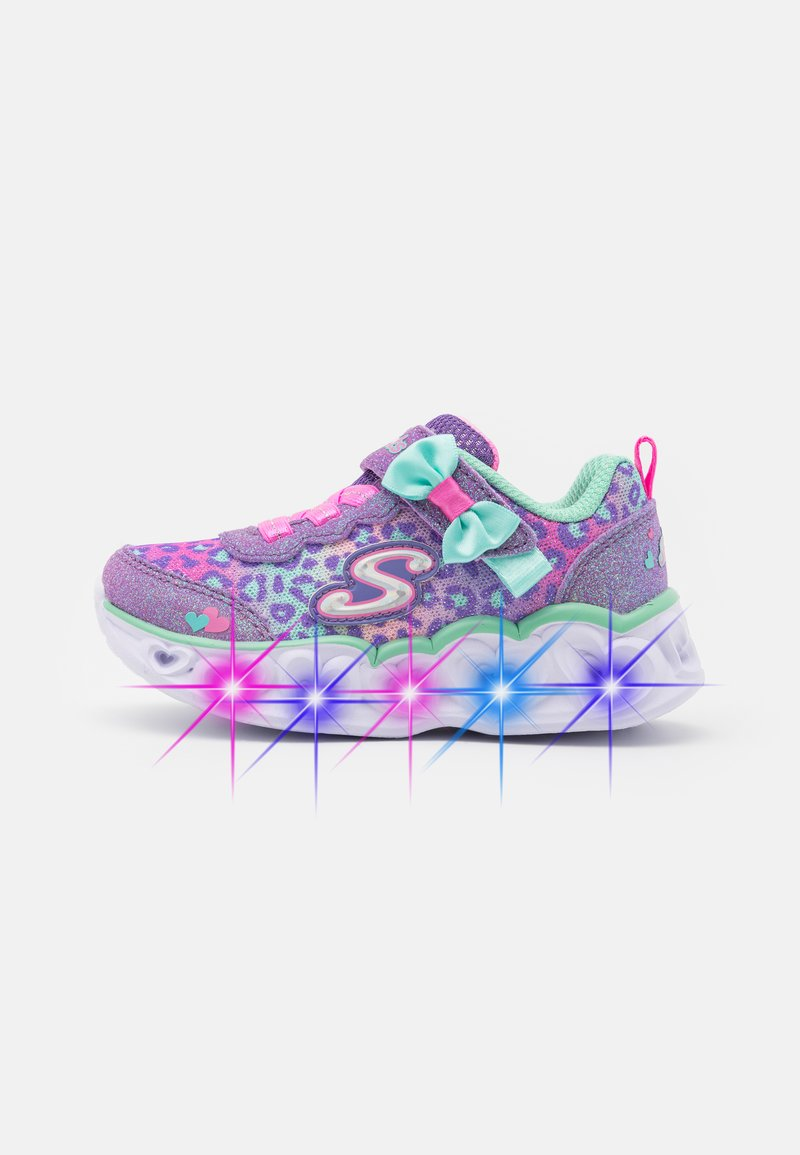 Skechers - HEART LIGHTS - Trainers - lavender/aqua/pink