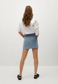 Mango - A-lijn rok - middenblauw - 2