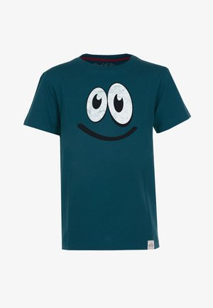 SMILE - Print T-shirt - dark-petrol