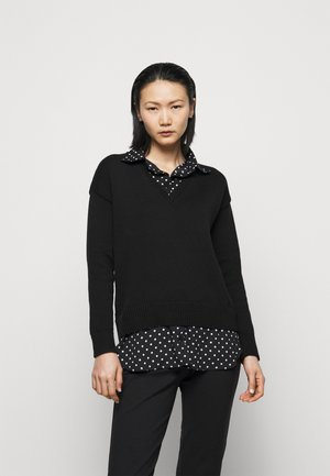 GASSED COLLAR - Jumper - black