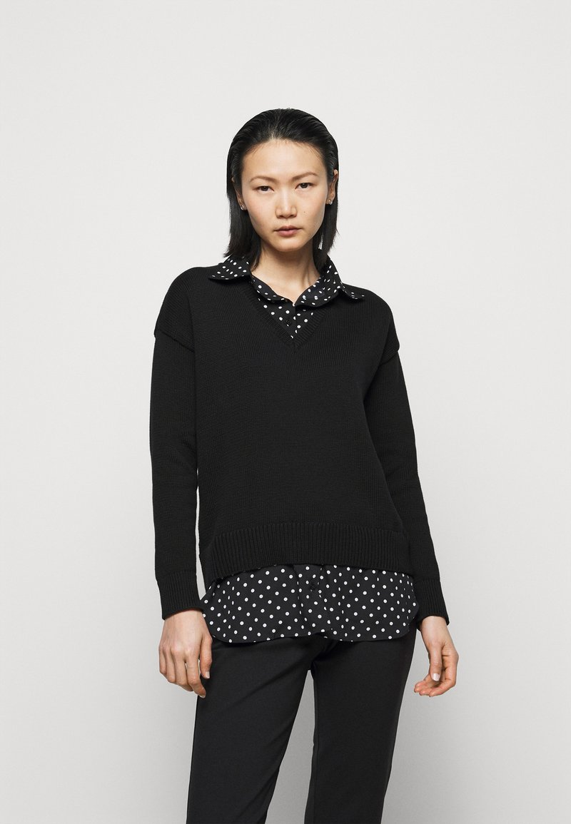 Lauren Ralph Lauren - GASSED COLLAR - Jumper - black