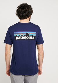Patagonia - LOGO ORGANIC - T-shirt imprimé - classic navy - 2