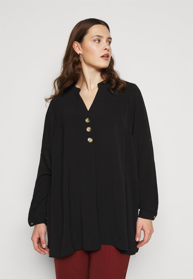 BUTTON OVERHEAD SHIRT - Blouse - black