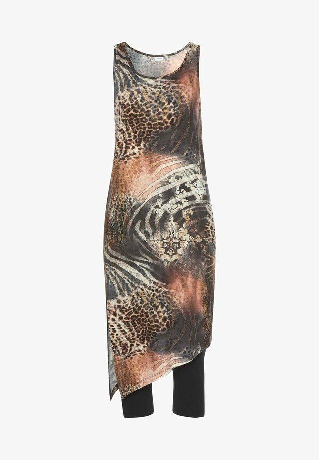 SET - Beach accessory - braun-bedruckt+schwarz