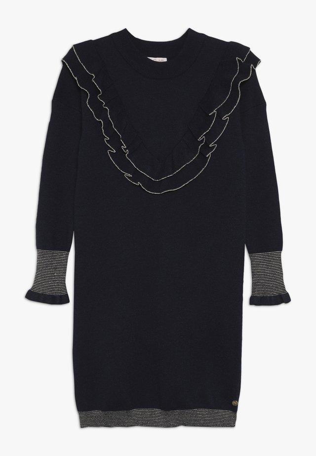 LAPPOLINE - Pletené šaty - navy