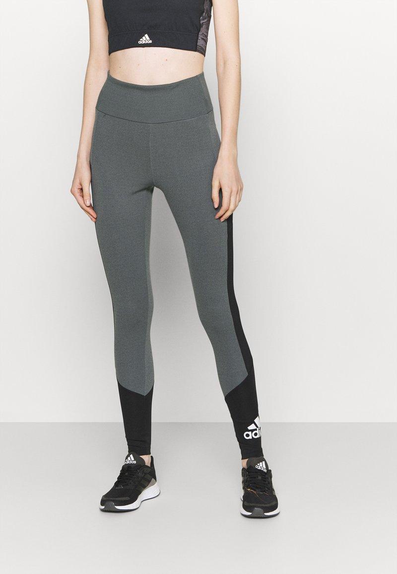 adidas Performance - Collants - grey/black/white
