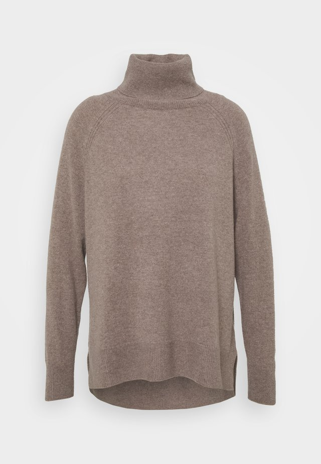 ROLL NECK  - Pullover - oatmeal
