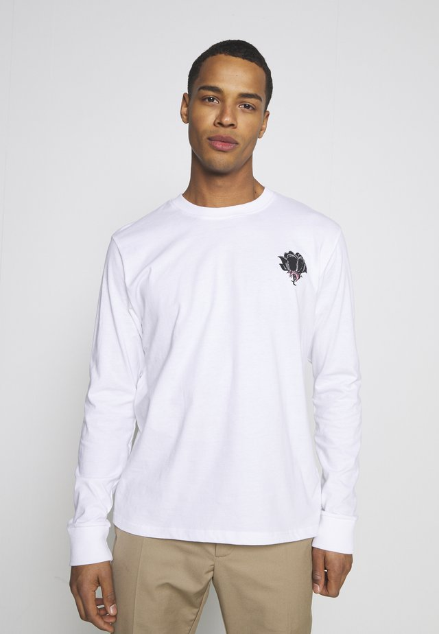 FRONT AND BACK GRAPHIC LONG SLEEVE UNISEX - Longsleeve - white