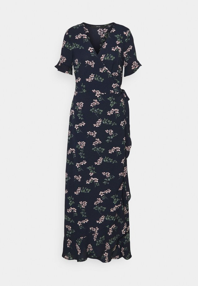 VMSAGA WRAP FRILL ANKLE DRESS  - Maxi dress - navy blazer