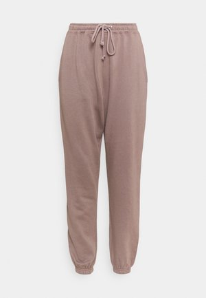 BASIC OVERSIZED - Tracksuit bottoms - brown