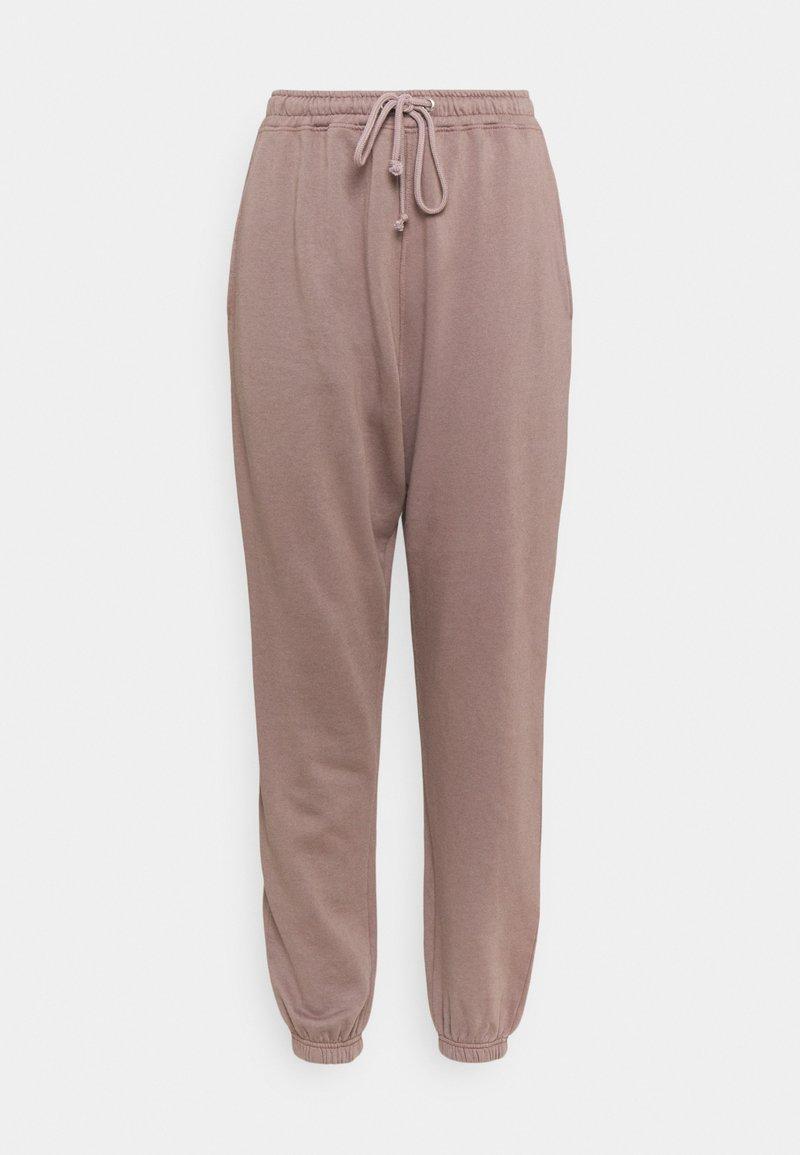 Missguided Tall - BASIC OVERSIZED - Pantalon de survêtement - brown
