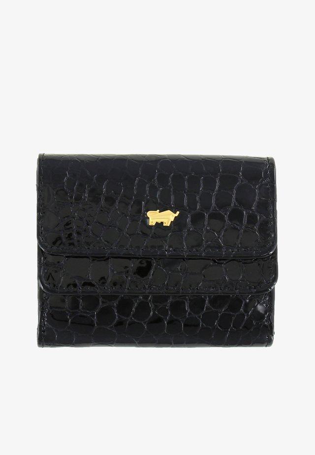 GLANZKROKO IM REPTILIEN-LOOK - Wallet - black