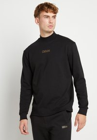 HUGO - DISAMU - Langærmede T-shirts - black/gold - 0
