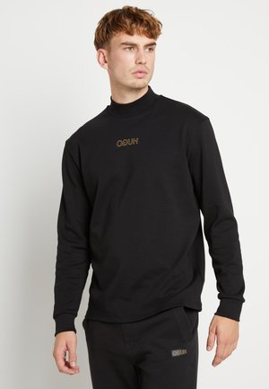 DISAMU - Long sleeved top - black/gold