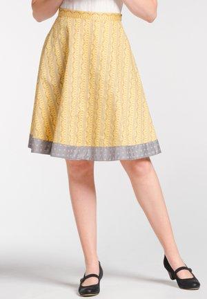 NEUBURG - A-line skirt - yellow