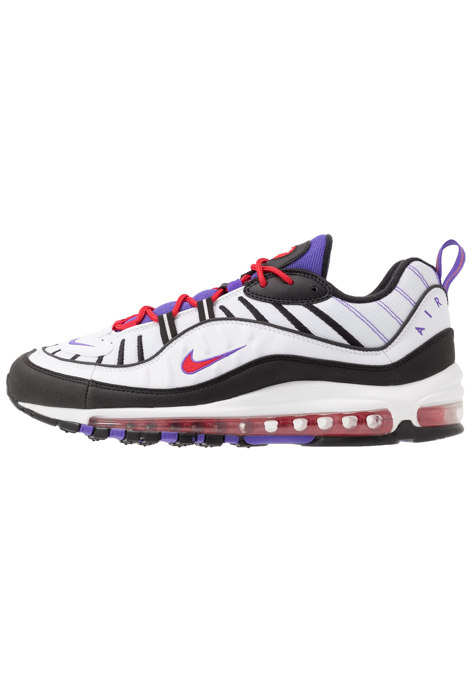 AIR MAX 98 - Sneakers laag - white/black/psychic purple/university red