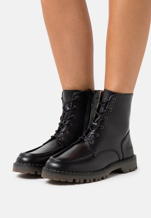 DECKBOOT - Lace-up ankle boots - black