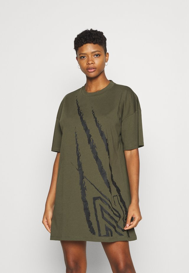 CLAW OVERSIZED DRESS - Trikoomekko - army
