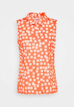DRY GRID - Sports shirt - bright mango/white