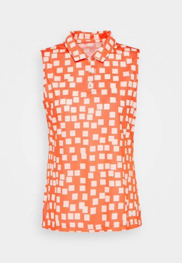 DRY GRID - Sportshirt - bright mango/white