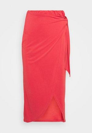 SLCOLUNI SKIRT - Wrap skirt - cardinal