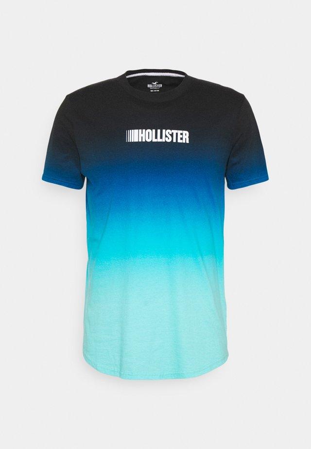 T-Shirt print - navy ombre