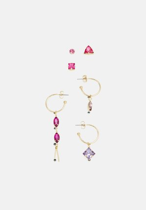 PCPARTI SOLO EARRINGS 6 PACK - Earrings - gold-coloured/multi