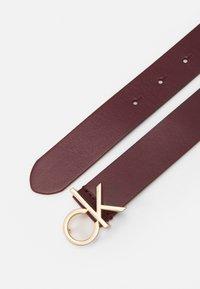 Calvin Klein - LOGO BELT - Belt - red - 1