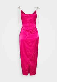 Missguided Tall - DIAMANTE TIE STRAP MIDI DRESS - Cocktail dress / Party dress - hot pink - 1