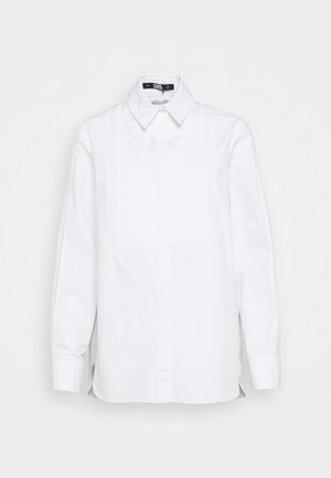 EMBROIDERED LOGO TAPE - Blouse - white
