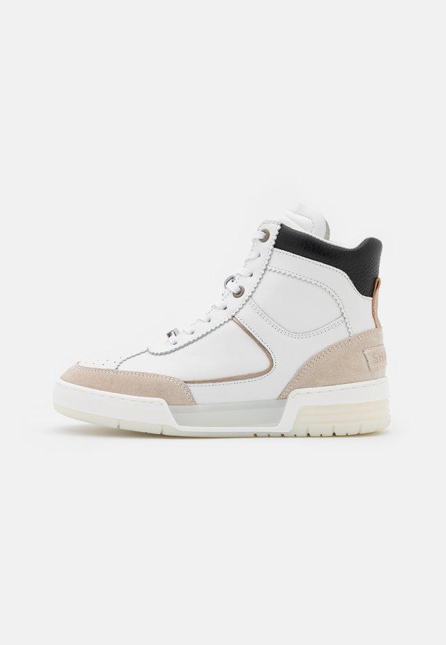 Sneakers hoog - white/rose
