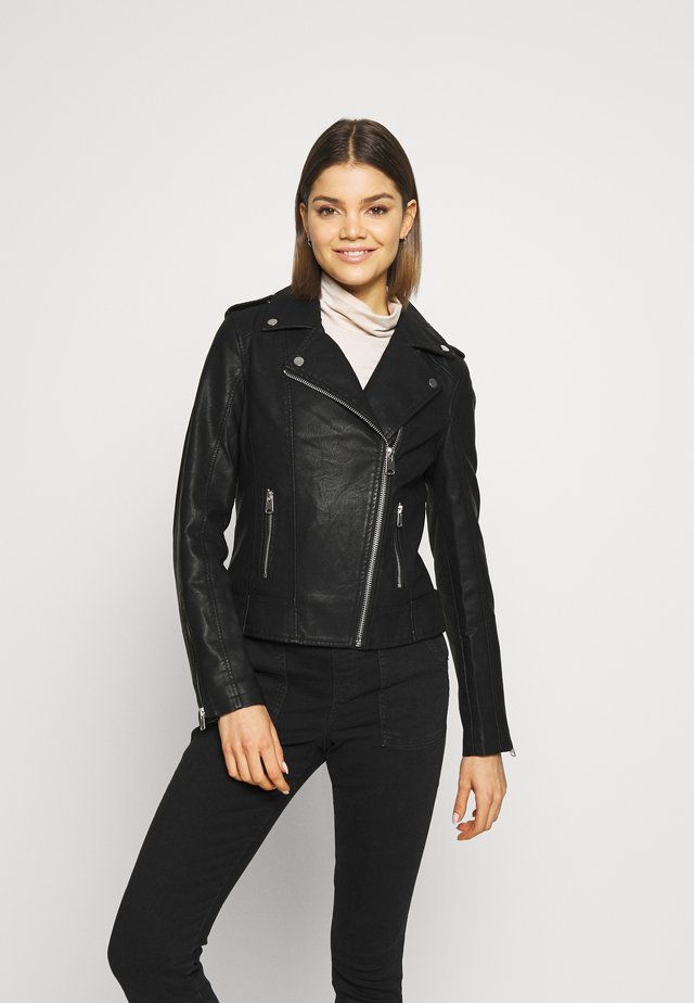 FRANKIE BIKER - Faux leather jacket - black