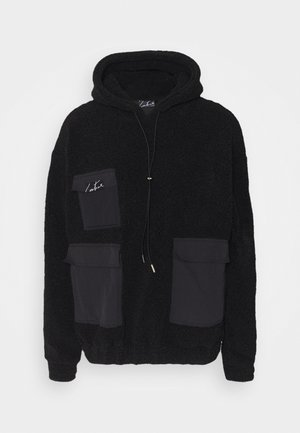 HOOD WITH TONAL POCKETS - Luvtröja - black