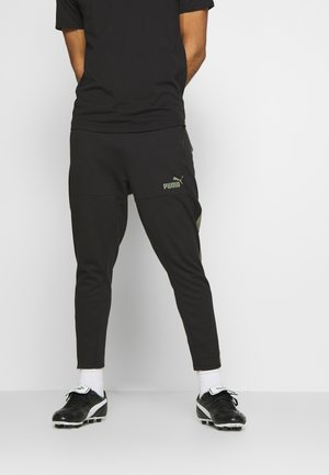 CASUAL PANT - Tracksuit bottoms - black/deep lichen green