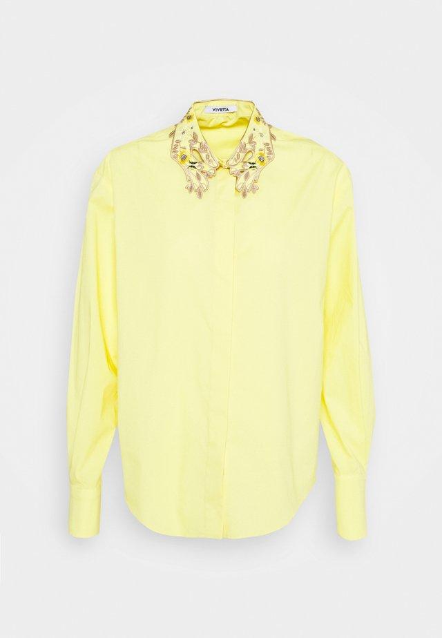 Overhemdblouse - giallo