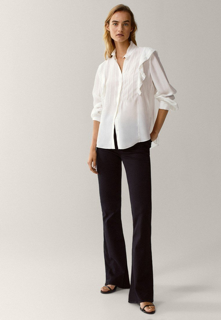 Massimo Dutti - Button-down blouse - white