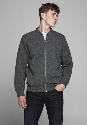 JJSTRUCTURE ZIP BASEBALL NECK - Zip-up hoodie - dark grey melange